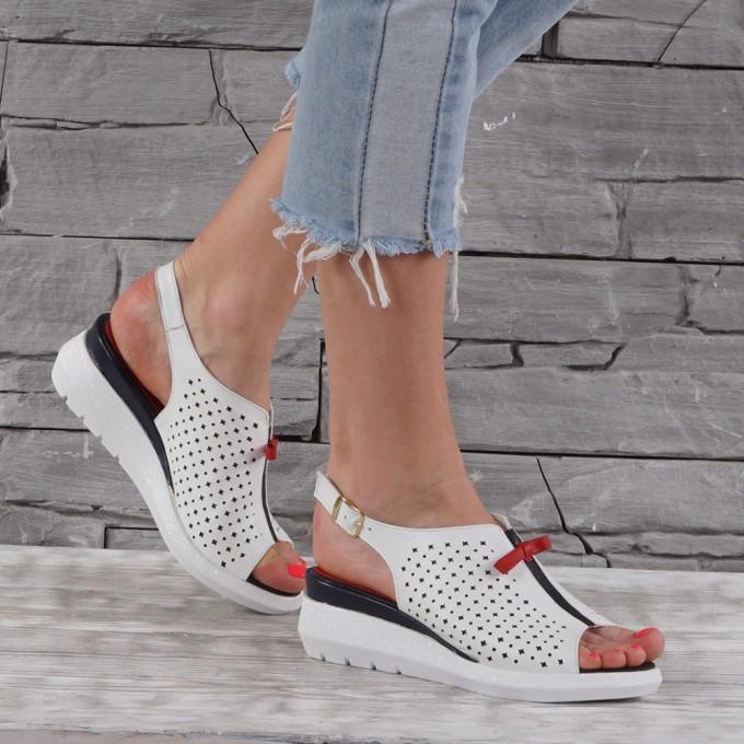 Дамски сандали естествена кожа GS 7202
