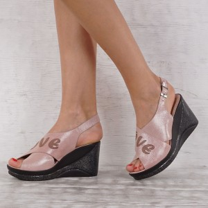 Дамски сандали естествена кожа VISINI 7081