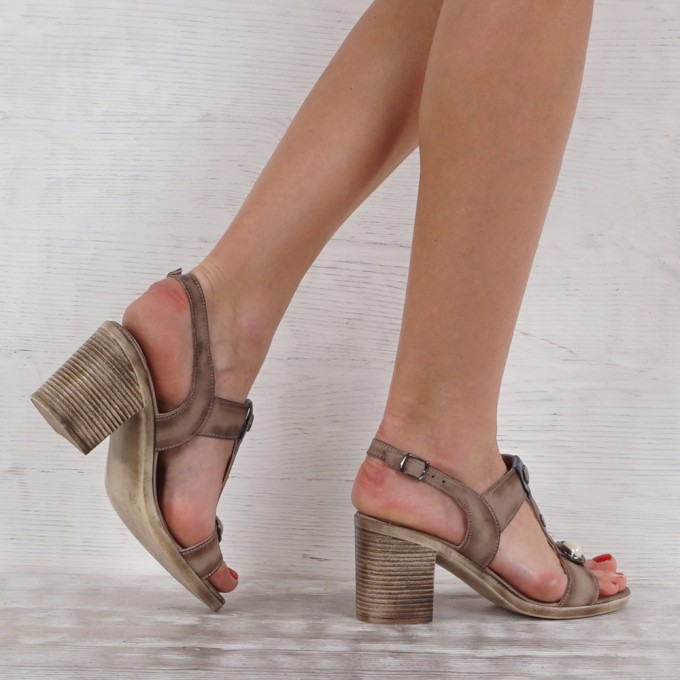 Дамски сандали естествена кожа VISINI 5428