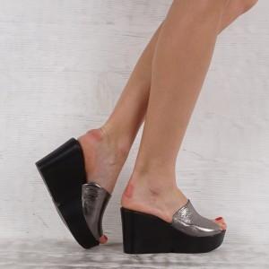 Дамски чехли естествена кожа VISINI 5585