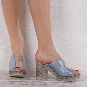 Дамски чехли естествена кожа VISINI 5639