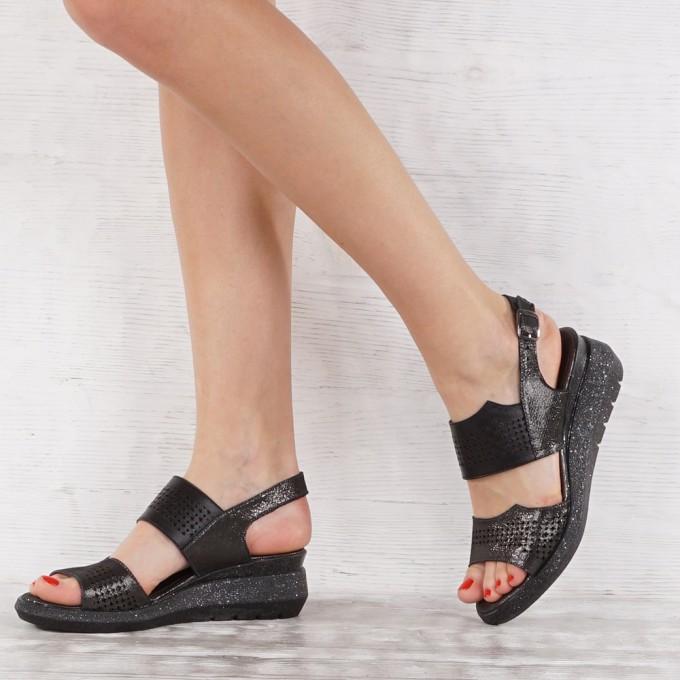 Дамски сандали естествена кожа VISINI 7119