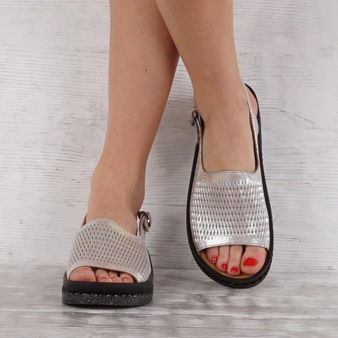 Дамски сандали естествена кожа GS 7129