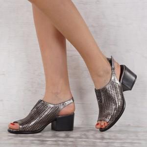 Дамски сандали естествена кожа GS 7131