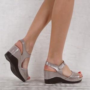 Дамски сандали естествена кожа GS 7140