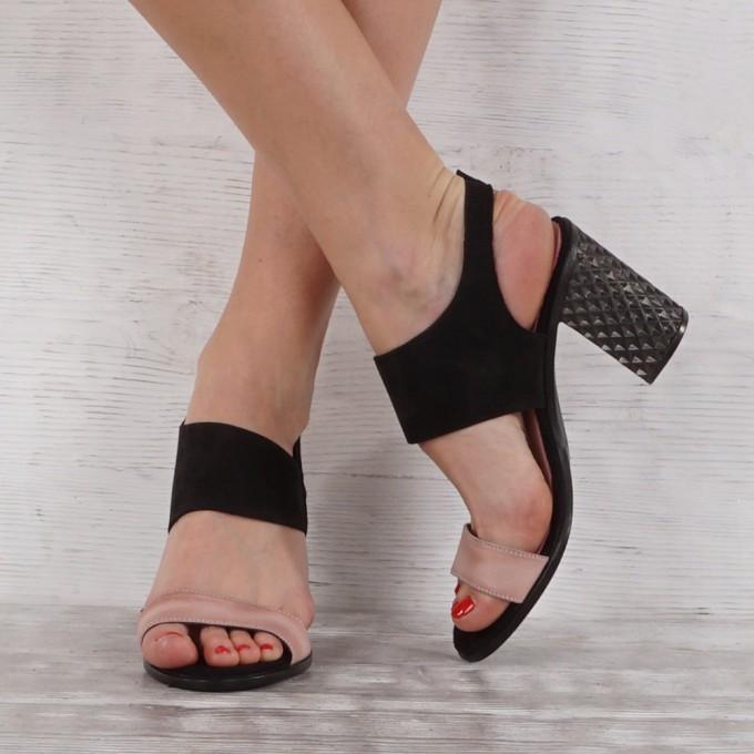 Дамски сандали естествен набук VISINI 7203