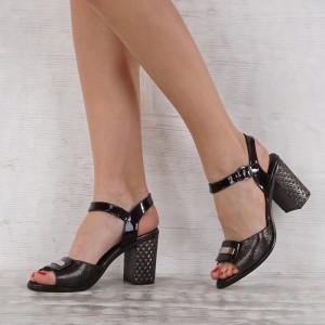 Дамски сандали естествена кожа VISINI 7205