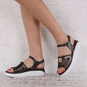 Дамски сандали естествена кожа VISINI 7234