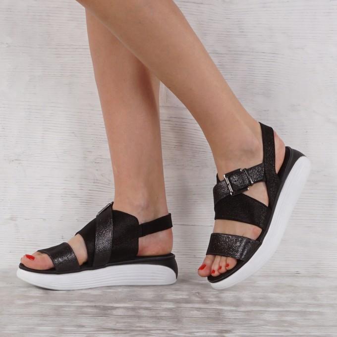 Дамски сандали естествена кожа VISINI 7268
