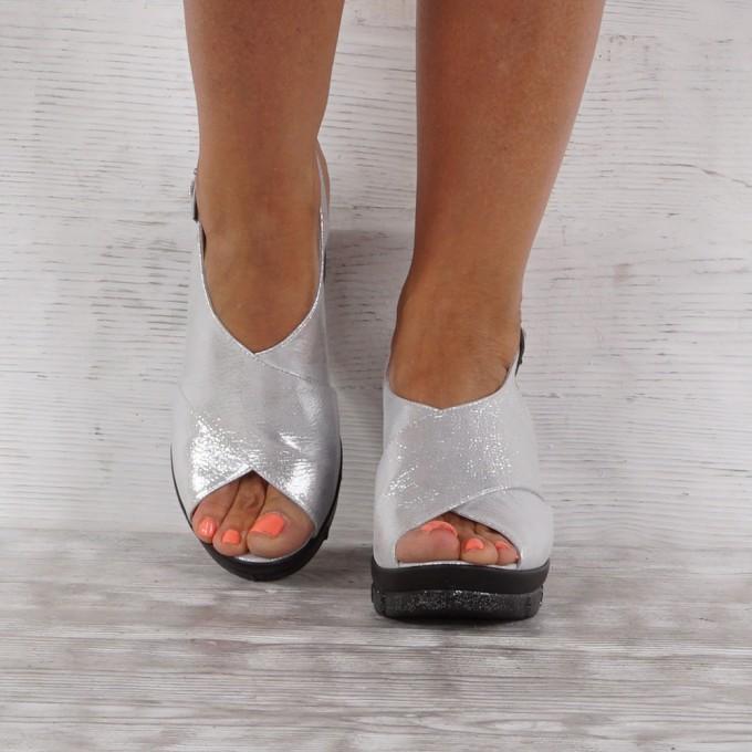 Дамски сандали естествена кожа GS 7595