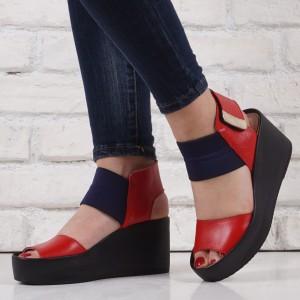 Дамски сандали естествена кожа VISINI 1469