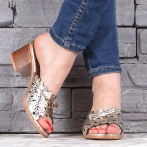 Дамски чехли естествена кожа VISINI 2024