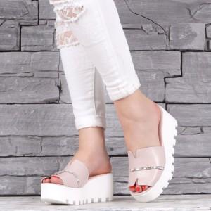 Дамски чехли естествена кожа VISINI 2190