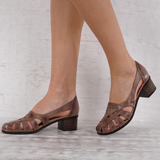 Дамски Обувки естествена кожа GS 7092