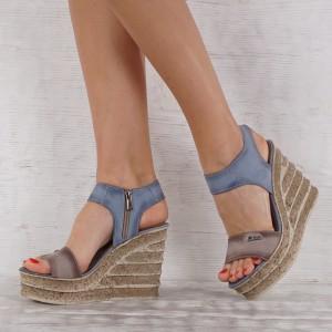 Дамски сандали естествена кожа VISINI 7236