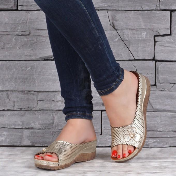 Дамски чехли естествена кожа GS 1607