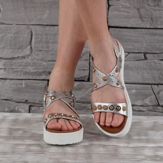 Дамски сандали естествена кожа GS 2804