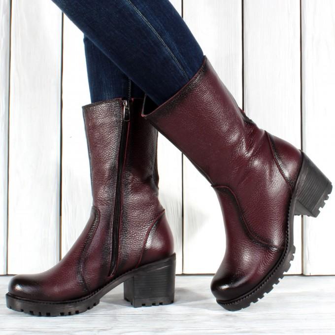 Дамски ботуши естествена кожа GS 3853