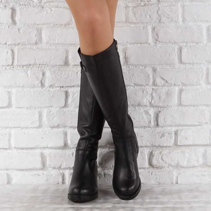 Дамски ботуши естествена кожа GS 3964