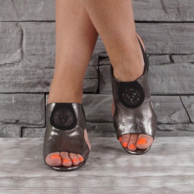 Дамски сандали естествена кожа VISINI 5224