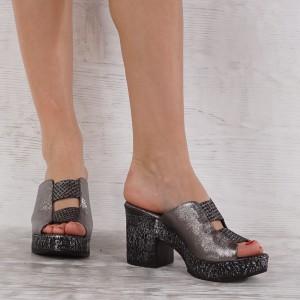 Дамски чехли естествена кожа VISINI 5332