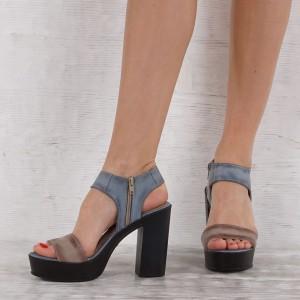Дамски сандали естествена кожа VISINI 5427