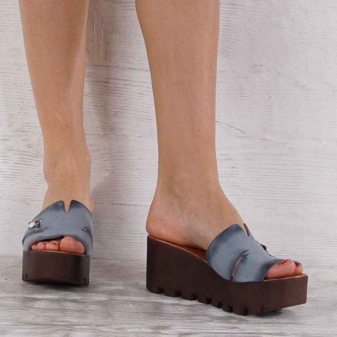 Дамски чехли естествена кожа VISINI 5568