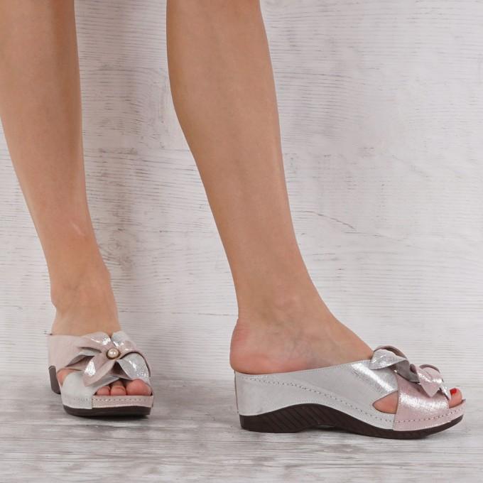 Дамски чехли естествена кожа  GS 6034