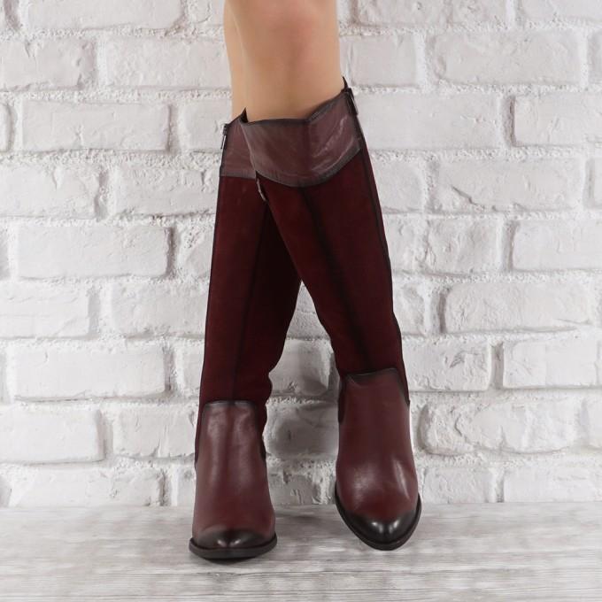 Дамски ботуши естествена кожа GS 6496