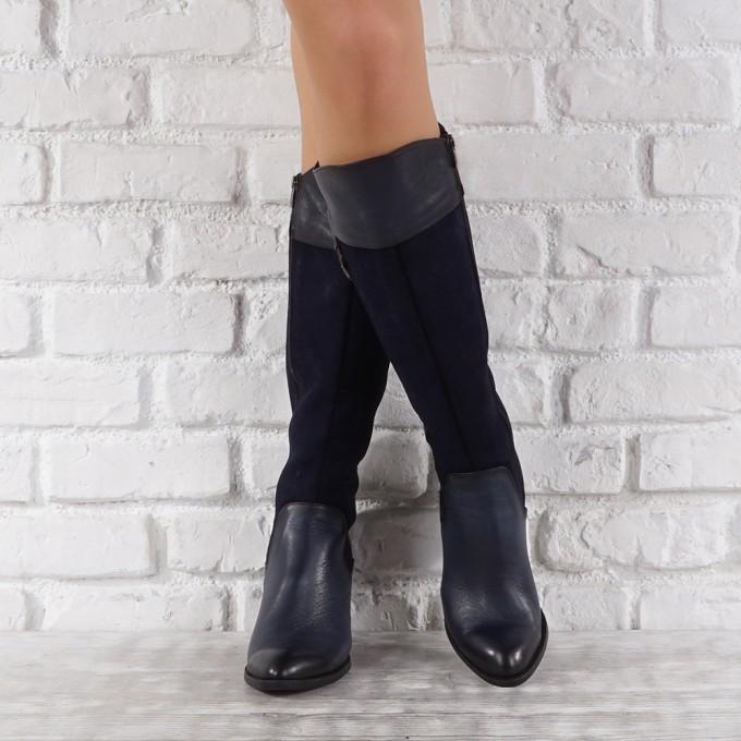 Дамски ботуши естествена кожа GS 6497