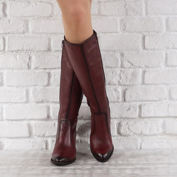 Дамски ботуши естествена кожа GS 6498