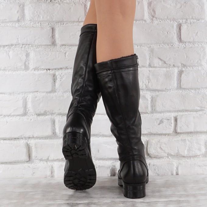 Дамски ботуши естествена кожа GS 6505