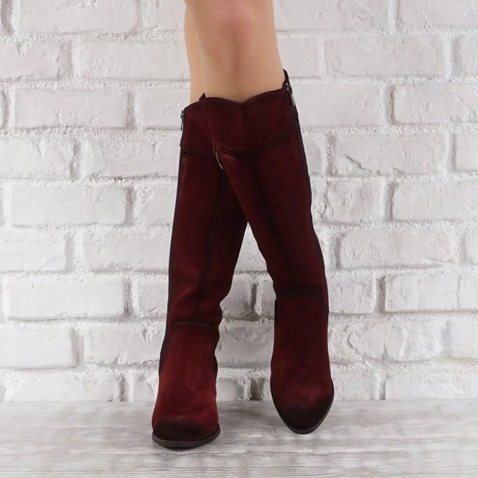 Дамски ботуши естествен велур GS 6611