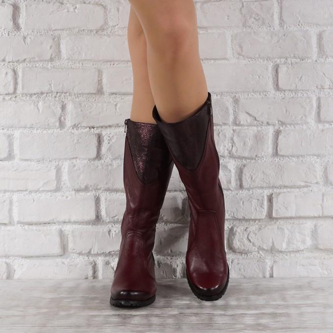 Дамски ботуши естествена кожа GS 6617