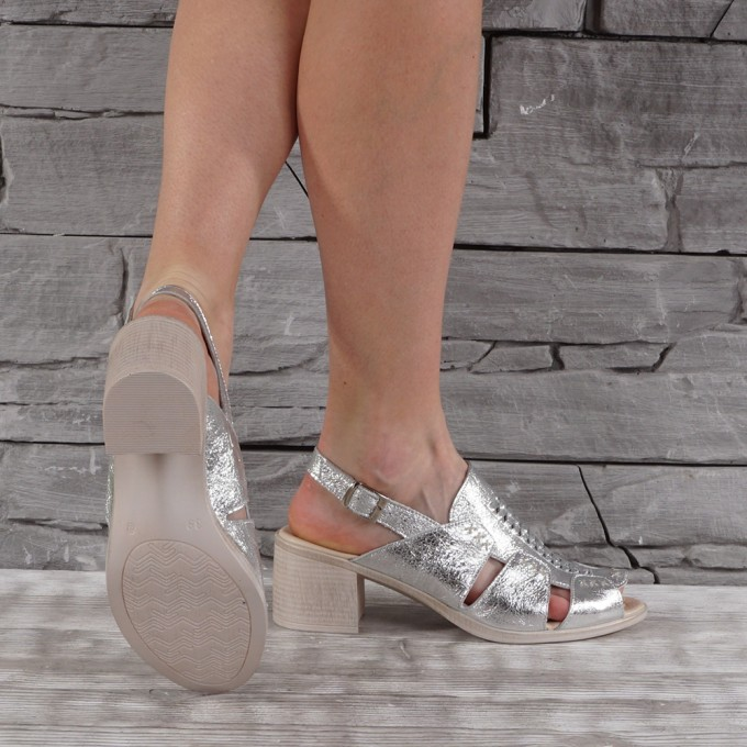 Дамски сандали естествена кожа GS 7086