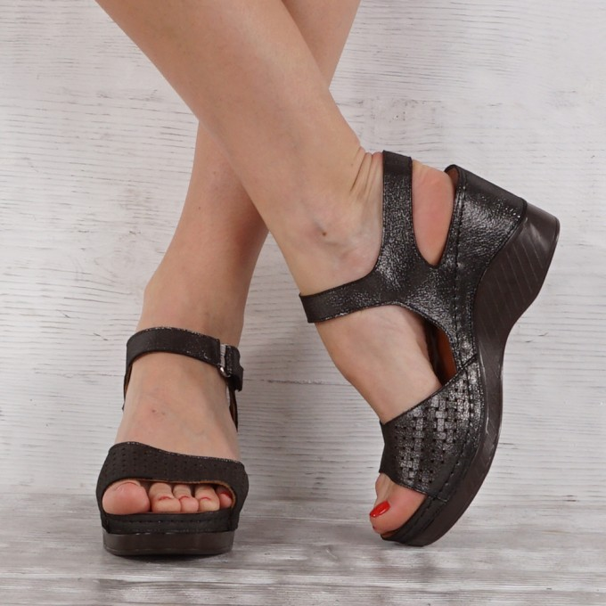 Дамски сандали естествена кожа GS 7141