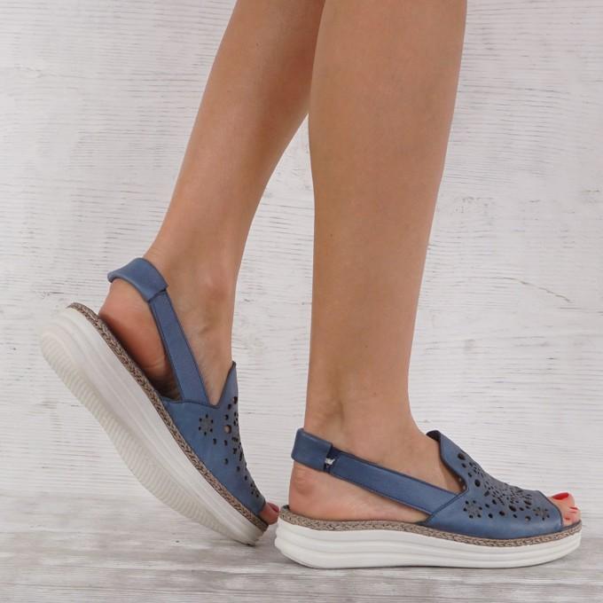 Дамски сандали естествена кожа GS 7171