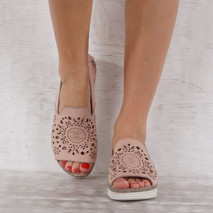 Дамски сандали естествена кожа GS 7172