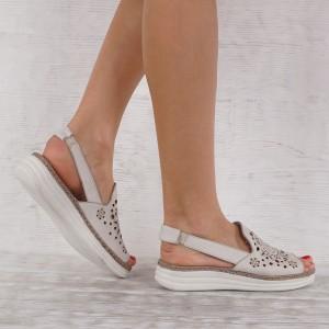 Дамски сандали естествена кожа GS 7173