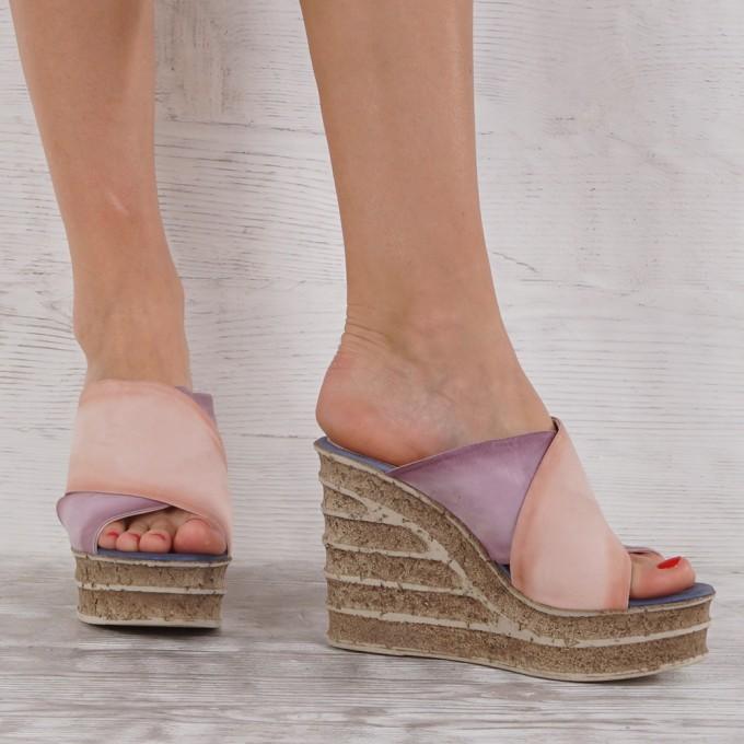 Дамски чехли естествена кожа VISINI 7194