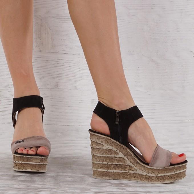 Дамски сандали естествена кожа VISINI 7198