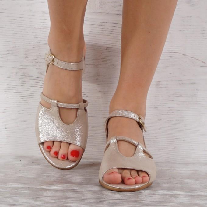 Дамски сандали естествена кожа VISINI 7224
