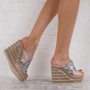 Дамски чехли естествена кожа VISINI 7235