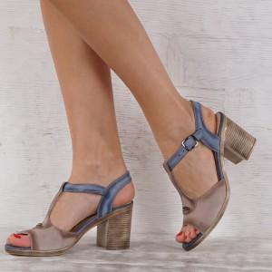 Дамски сандали естествена кожа VISINI 7250