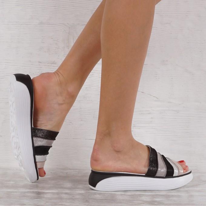 Дамски чехли естествена кожа VISINI 7266