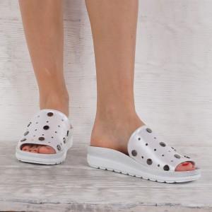 Дамски чехли естествена кожа GS 7267