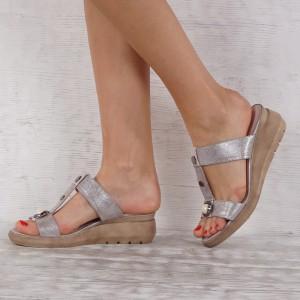 Дамски чехли естествена кожа VISINI 7271