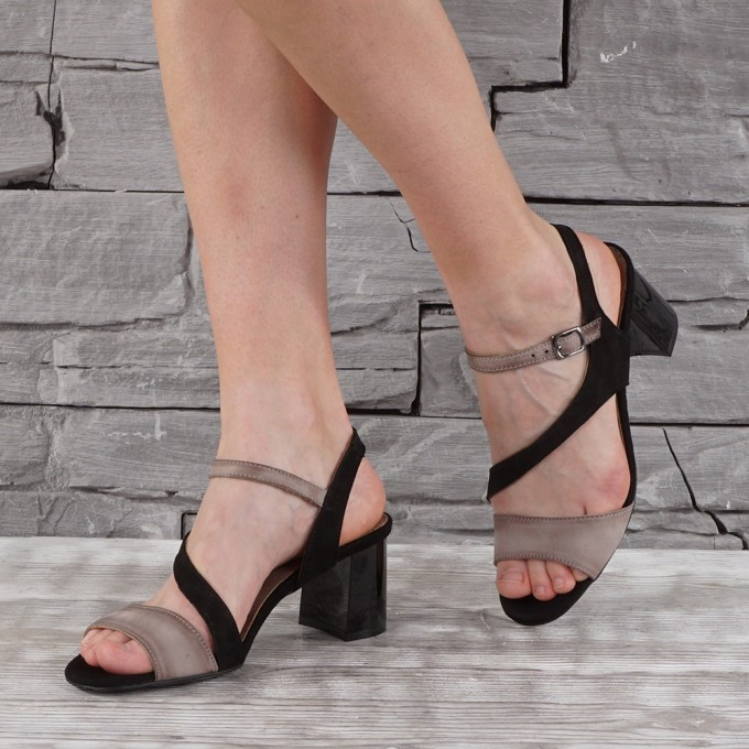 Дамски сандали естествен набук VISINI 7596