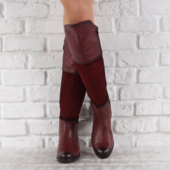 Дамски ботуши естествена кожа GS 7810