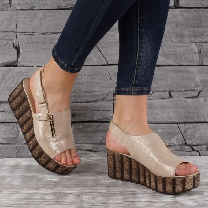 Дамски сандали естествена кожа VISINI 7815